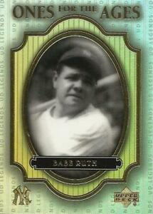 BABE RUTH 2000 UPPER DECK ONES FOR THE AGES 03 NICE