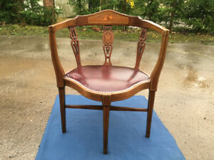 Victorian Arm Chair, Old Bedroom Armchair, Rare small Chair, Old Corner Chair