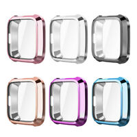 For Fitbit Versa Lite Case Rugged Bumper Cover Soft TPU Plated Screen Protector