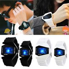 Hot Men Boys Girls LED Change Light Digital Sports Quartz Silicone Watches