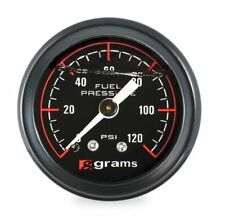 GRAMS Fuel Pressure Gauge (BLACK) Marshall 0-120 psi UNIVERSAL