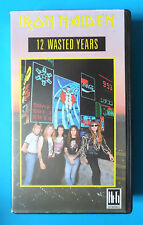 IRON MAIDEN 12 WASTED YEARS VIDEO VHS 1987 90 MINS 14 TRACKS BRUCE DICKINSON