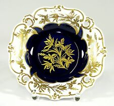 WEIMAR - 21,5cm Schale PRUNKSCHALE Zierschale - ILSE - Kobaltblau Goldene Blume