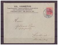 Deutsches Reich, MiNr. 86 I EF KGS Frankfurt am Main nach Leutkirch 08.10.1909