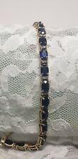 Beautiful 14K 14 Kt Gold Sapphire Diamonds Bracelet 11.9 Grams