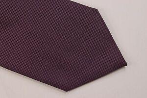 Ermenegildo Zegna NWT Neck Tie In Solid Textured Deep Purple 100% Silk