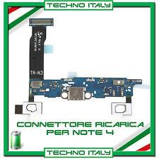 FLAT Flex CONNETTORE Carica Per Samsung GALAXY NOTE 4 N910F MICROFONO Ricarica