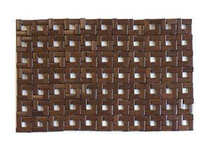 "Harman Squares Bamboo Placemat 12"" x 18"" Brown"