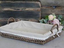 High Quality French Style Basket Breakfast Tray with Fabric inlay