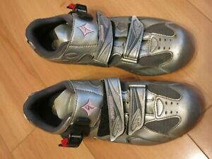 SPECIALIZED Torch Road Cycling Bicycle Shoes Silver Women's 39.5 / 8.75