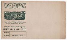 1910 ENVELOPE Stationery ORANGE MASSACHUSETTS 100th Anniversary CENTENNIAL Mass