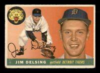 1955 Topps Set Break # 192 Jim Delsing VG Crease *OBGcards*
