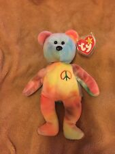 Peace Bear Beanie Baby! Mint Tags/ Tush Stamp