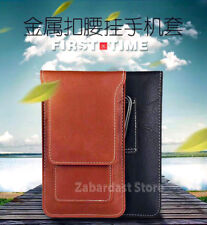 Zabardast Belt Holster Magnetic Button Leather Pouch Case Cover for Phone Mobile