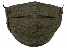Takashi Murakami Flower Pattern Mask (Moss Green/Black)
