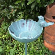 Cast Iron French Style Garden Ornament Wild Bird Feeder Dish Bath