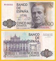 Spain 5000 Pesetas p-160 1979 UNC Banknote