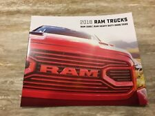 2018 DODGE RAM TRUCKS FULL-LINE 8-Page Small Original Sales Brochure
