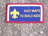 BSA Boy Scout Cub Scout 1000 Ways To Build Kids Patch Boy Scout Patch Vintage