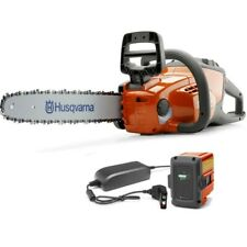 Husqvarna 120i Battery Powered 14 Inch Chain Saw with Battery and Charger