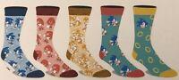 Sonic The Hedgehog Casual Crew Sock 5 Pair Fits Shoe Size 8-12 SEGA GAMING