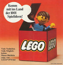 Prospekt LEGO 1974 1001 Spielideen 97820 Spielzeugprospekt brochure toys