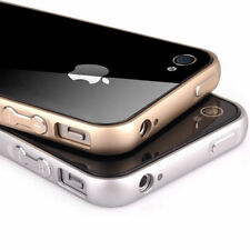 BUMPER PARA IPHONE 4S 4 ALUMINIO COLOR Dorado A FUNDA CARCASA Gold Oro