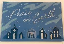 "Peace On Earth - Christmas Cards 7,75""x5,25"" Set Of 6, White Premium Envelopes"