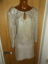 Gorgeous stretchy shimmering silver evening party Julien Macdonald dress size 18