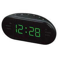 """1.2"""" LED Digital AM/FM Clock Radio w/ Alarm Snooze Function for Bedroom Bedside"""