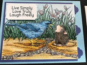 Stampendous cling mounted rubber stamp - HOUSE MOUSE - BERRY BIRDIE