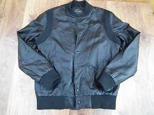 River Island black Bomber Faux Leather Jacket Size Large