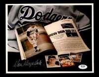 Don Drysdale PSA DNA Coa Hand Signed 8x10 Photo Autograph