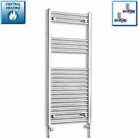 1100 x 600mm Designer Chrome Heated Towel Rail Radiator Central Heating Bathroom