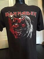 Rare Iron Maiden Purgatory Tour Shirt Sz L Supreme Morbid Metal Death Angel Rock