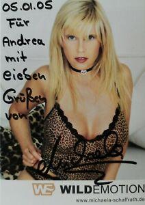 Signierte Autogrammkarte Gina Wild Michaela Schaffrath 10 x 15 cm