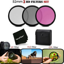 52mm 3 Piece HD Filters KIT f/ Nikon AF-S NIKKOR 200-400mm f/4G ED VR II Lens