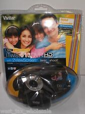 Vivitar iTwist 613 HD DVR Digital Camera 1.3 Mega Pixels 4x Digital Zoom BLACK