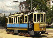 Ansichtskarte: historischer Maximum-Vierachser Tw 20, Straßenbahn Leipzig 1910