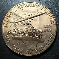Illinois 150th Sesquicentennial Medal --  MAKE US AN OFFER!  #O4229