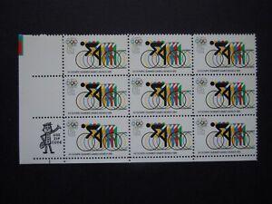 #1460 6c 1972 Olympic Games Mr. Zip Red Ring Error Block of 9  MNH OG VF