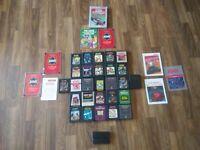 Atari Lot of 27 Games Literature Pac Man Yars Defender Pitfall Donkey Kong 2600