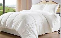 White Down Soft Alternative Comforter Duvet Cover Insert Queen Twin King