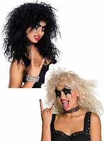 Mens Black Textured 1980s Rock Star 80s Rocker Fancy Dress Costume Accessory