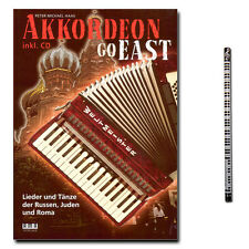 Akkordeon Go East - Liederbuch mit CD, PianoBleistift - 610378 - 4018262103786