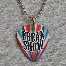 Metal Guitar Pick Necklace FREAK SHOW sideshow circus freaks fire eater pendant