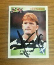 *** Panini England Euro '96 Rare Hand Signed Card - Stuart McCall - Scotland ***