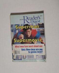 Reader's Digest April 1979 DC Comics Superman Christopher Reeves