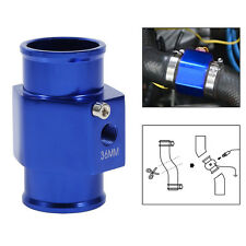 Universal 36mm Water Temp Gauge Joint Pipe Sensor Radiator Hose Adapter Blue ES