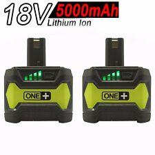 2x 18V 5.0AH Li-ion Battery for RYOBI One+ RB18L25 RB18L50 P108 P107 P104 P780